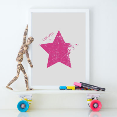 wish upon a star pink